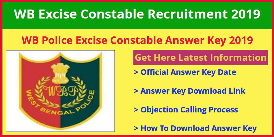 WB Police Excise Constable Answer Key 2019
