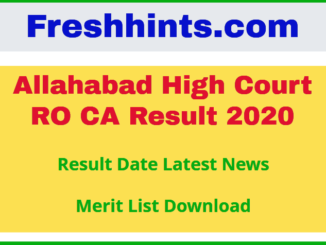 Allahabad High Court RO CA Result 2020