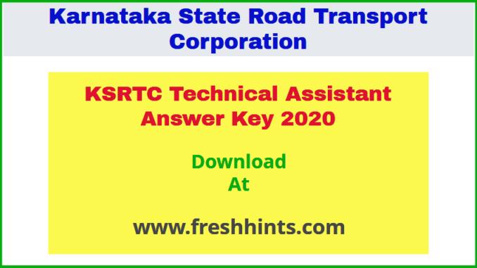 KSRTC TA Answer Key 2020