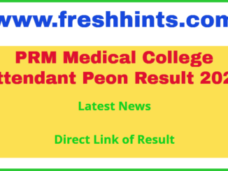 PRMMCH Mayurbhanj District Recruitment Result 2020