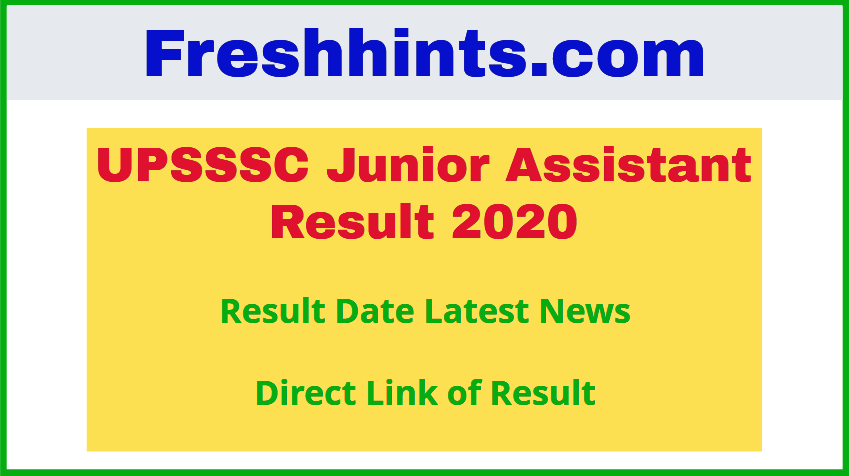 UPSSSC JA Result 2020