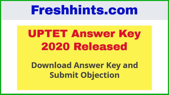 UPTET Answer Key and Objection 2020