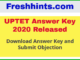 UPTET Answer Key and Objection 2020