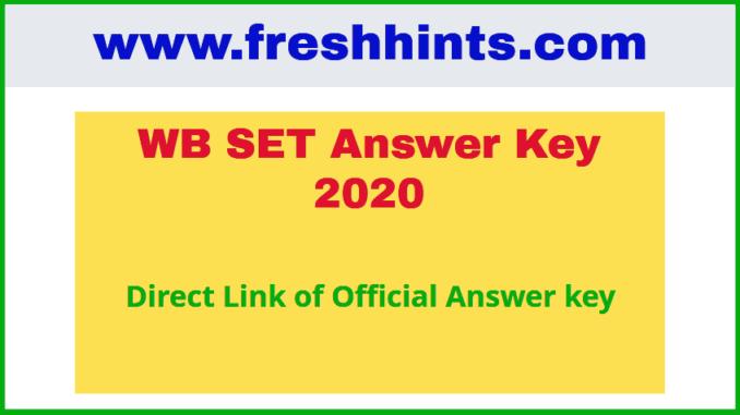WB SET Answer Key 2020