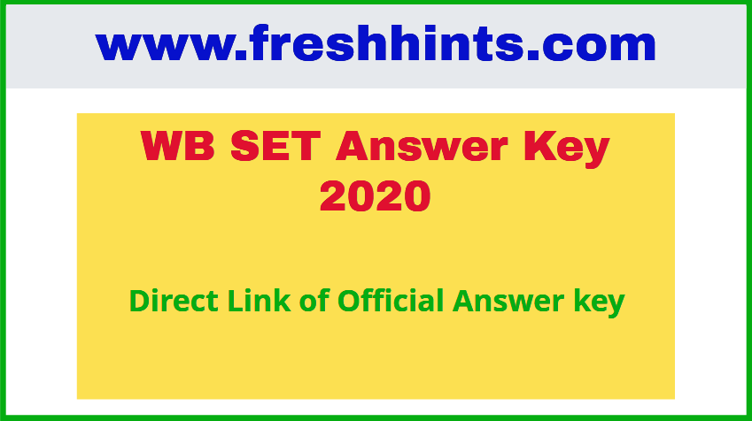 WB SET Answer Key 2020