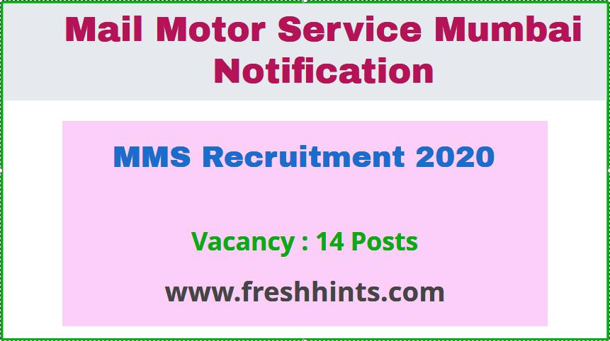 MMS Recruitment 2020