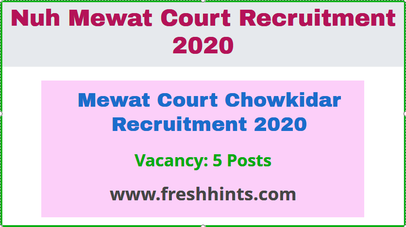 Mewat Court Chowkidar Recruitment 2020 (2)