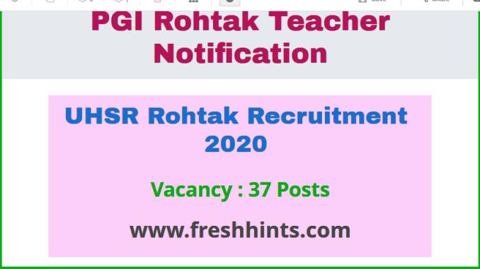 UHSR Recruitment 2020