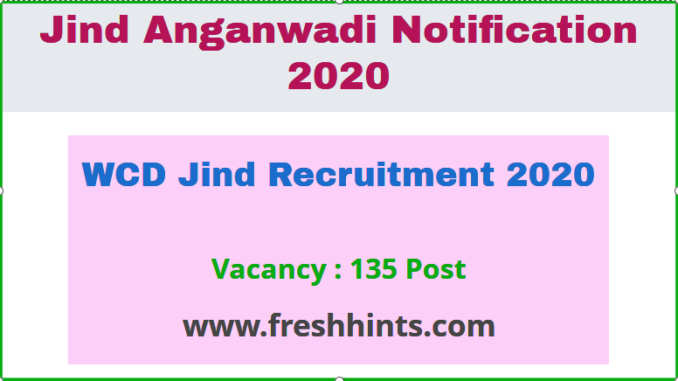 WCD Jind Recruitment 2020