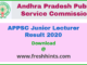APPSC Junior Lecturer Result 2020
