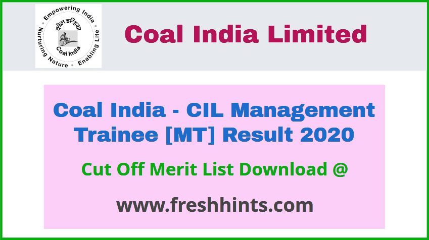 CIL Management Trainee Result 2020