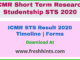 ICMR Short Term Research Studentship Results 2020