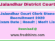 Jalandhar District Court Clerk Steno Recruitment 2020
