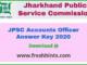 JPSC AO Answer Key 2020