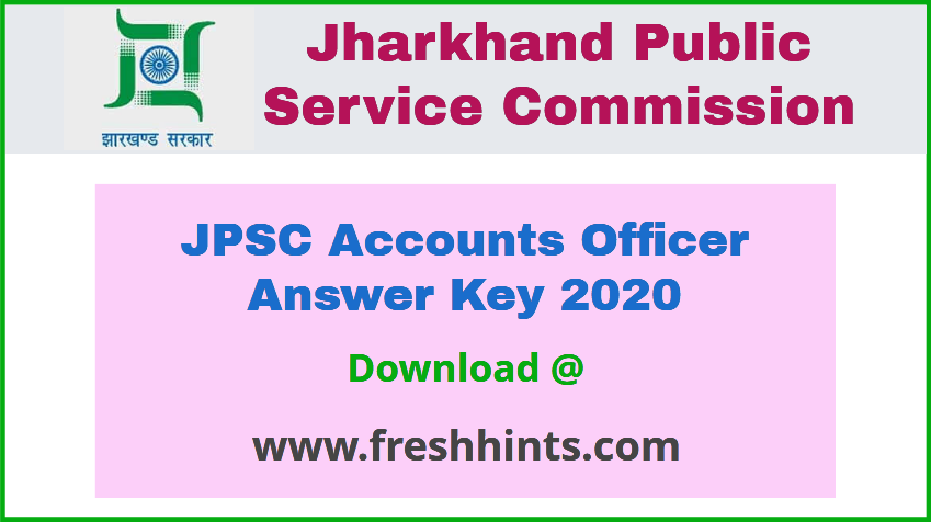 JPSC AO Answer Key 2020