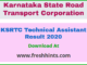 KSRTC Technical Assistant Result 2020
