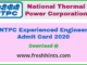 NTPC Engineer Admit Card 2020