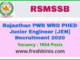 Rajasthan PWD WRD PHED Junior Engineer JEN JE Recruitment 2020