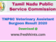 TNPSC Veterinary Assistant Surgeon Result 2020