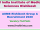 AIIMS Rishikesh Group A Recruitment 2020