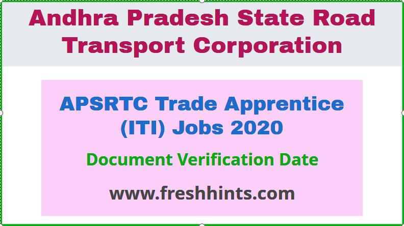 APSRTC Recruitment 2020