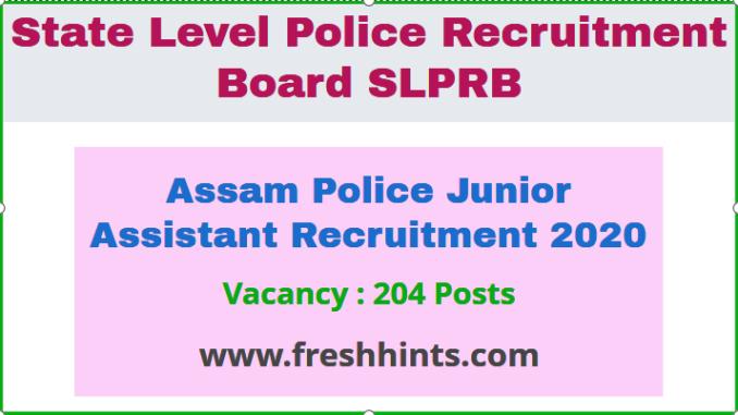 Assam Police JARecruitment 2020