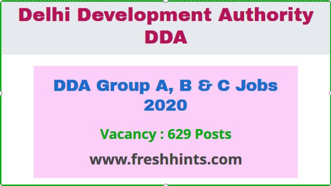 DDA Group A, B & C Jobs