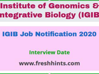 IGIB Notification 2020