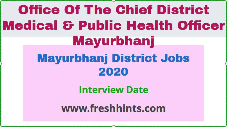 Mayurbhanj District Job 2020