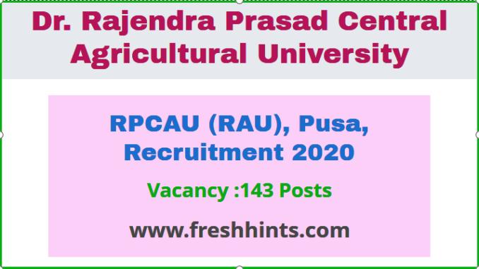 RPCAU (RAU) Recruitment 2020