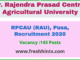 RPCAU (RAU) Recruitment 2020
