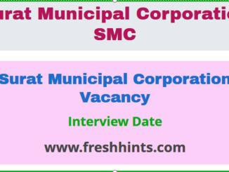 Surat Municipal Corporation Vacancy
