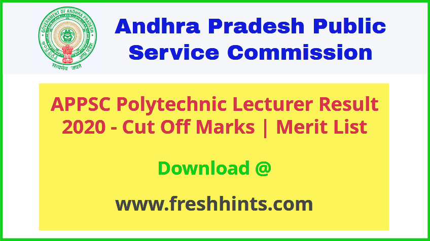 AP Polytechnic College Lecturer Results 2020