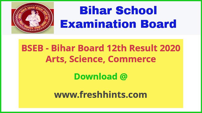 Bihar Board 12th Result 2020