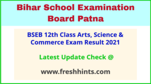 Bihar Board Inter Annual Exam Results 2021