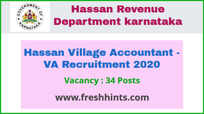 Hassan VA Recruitment 2020