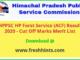HPPSC HP Forst Service ACF Result 2020