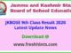 JK Board 9th Class Result 2020