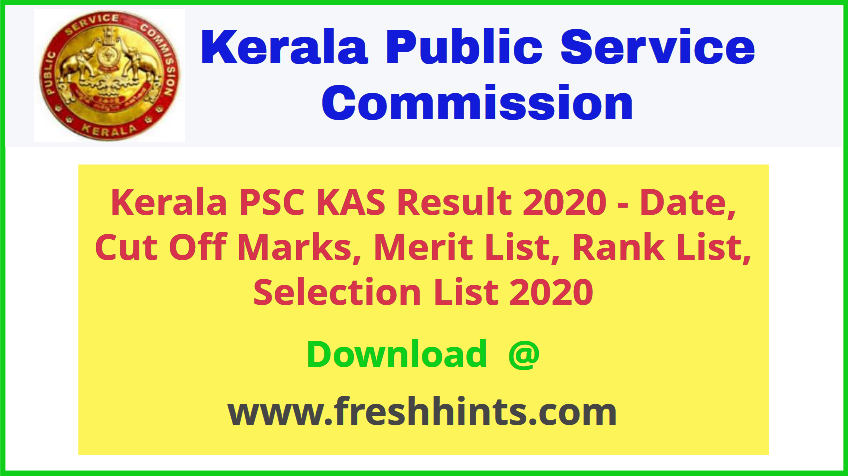 KPSC KAS Officer Results 2020