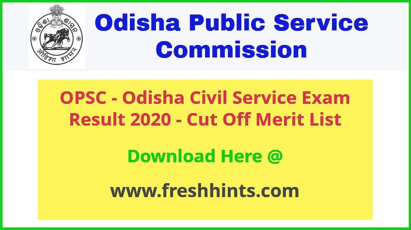 Odisha Civil Service Exam Result 2020