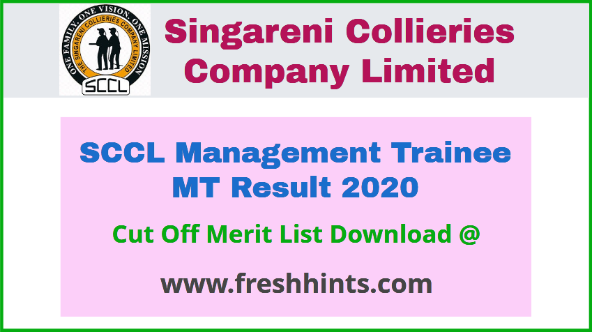 SCCL Management Trainee Result 2020