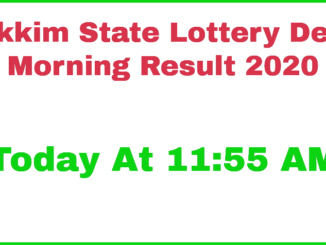 Sikkim State Daily Lottery Result 2020