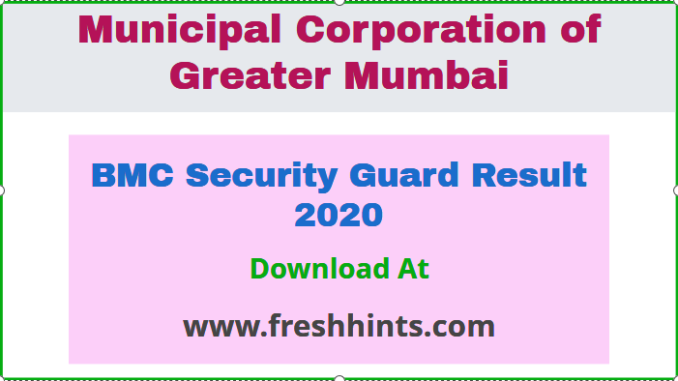 BMC Security Guard Result 2020