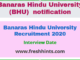Banaras Hindu University Recruitment 2020