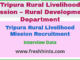 Tripura Rural Livelihood Mission Recruitment