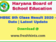 BSEH 8th Class Result 2020