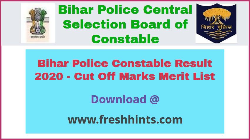 CSBC Constable Result 2020
