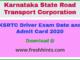 KSRTC Driver Hall Ticket 2020