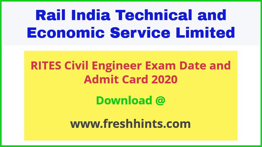 RITES Ltd Civil Engineer Admit Card 2020