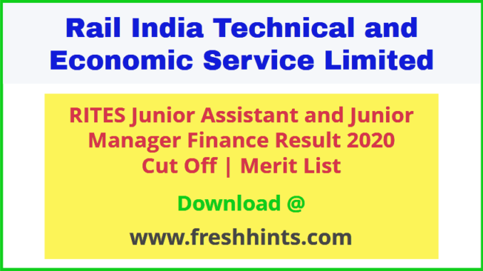 RITES Ltd JA JM Results 2020